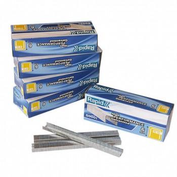 6mm Fine Wire Staples - Box 5000
