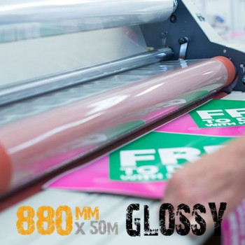 Glossy cold laminate film roll