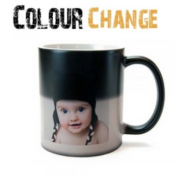 Black Colour Change 11oz Mug