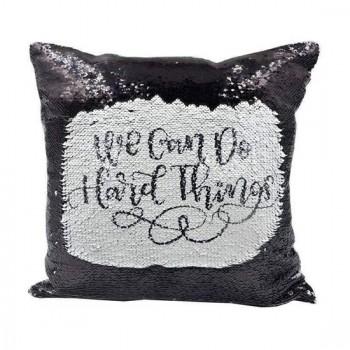 Black Sequin Sublimation Cushion cover