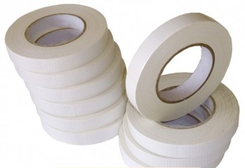 White Canvas Cloth Tape 20mm x 50m - 10 Pack