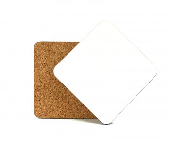 MDF Square Coaster with Cork 9cm