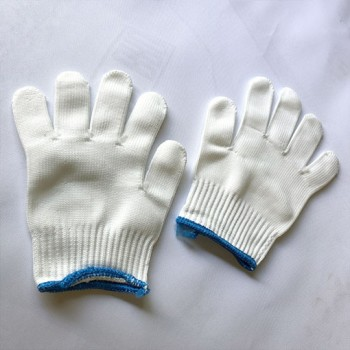 White Moisturising Linen Cotton Gloves