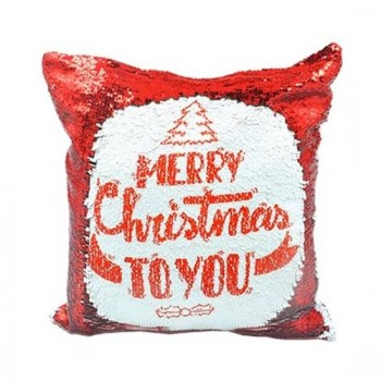 Red Sequin Sublimation Cushion Cover