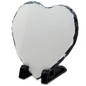 Heart Shaped Photo Slate 15cm X 15cm