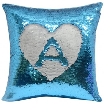 Blue Sequin Sublimation Cushion cover