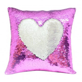 Pink Sequin Sublimation Cushion cover
