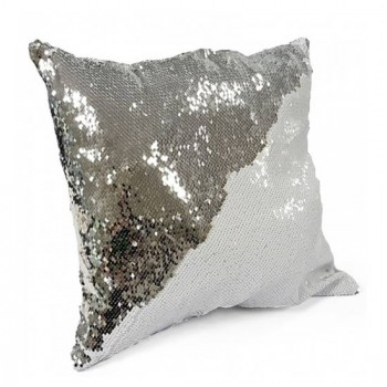 Silver Sequin Sublimation Cushion cover