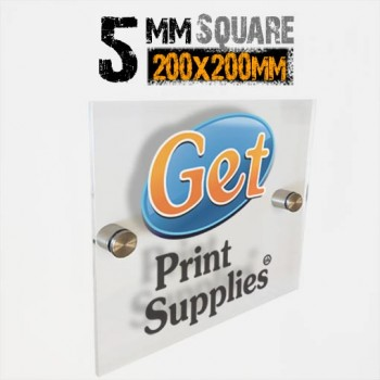 Square 5mm Acrylic Panel with Standoffs