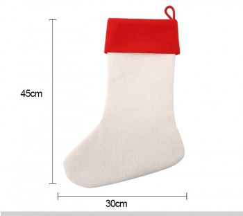 Christmas Stocking with Red Cuff - 45 x 30cm