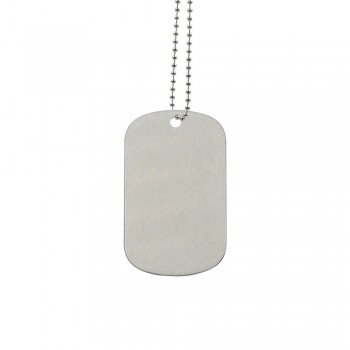Sublimation Staineless Steel Dog Tag Silver