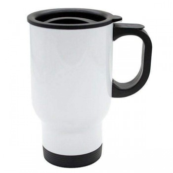 14oz White Sublimation Travel Mug