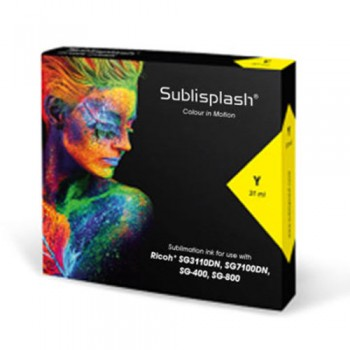 Yellow Sublisplash ink cartridge 31ml