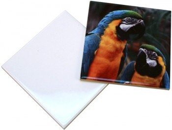 White Sublimation tiles, Square ceramic tile 4.25 x 4.25 inches