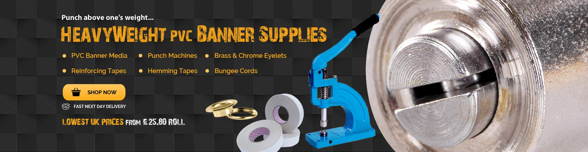 Eyelet Banner Machine